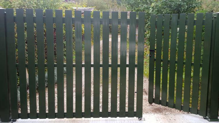 Portail asymétrique ; paline aluminium