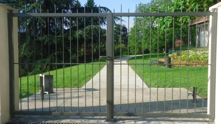 portail deux vantaux – barreau rond